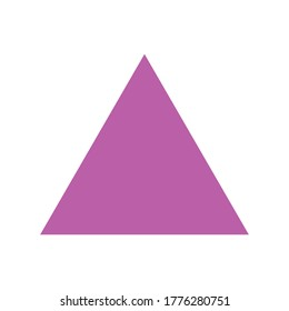 purple triangle basic simple shapes isolated on white background, geometric triangle icon, 2d shape symbol triangle, clip art geometric triangle shape for kids learning