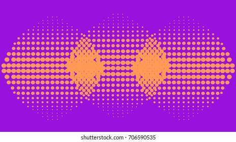 Purple vector abstract pattern with orange circles. Universal template for your corporate style.