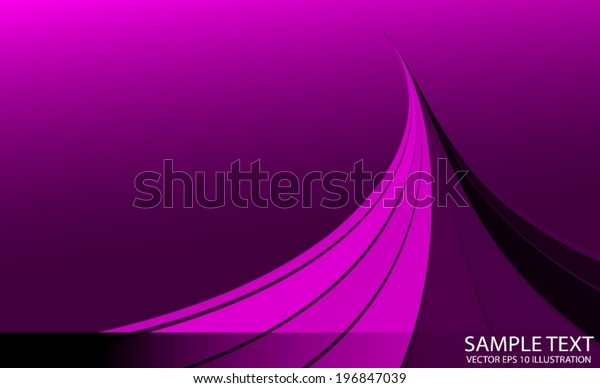 Purple Vector Abstract Space Template Vector Stock Vector