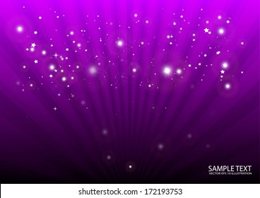 Purple vector background burst design illustration template - Vector  background  for decorative design