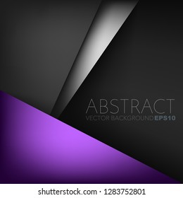 Purple vector background on black space