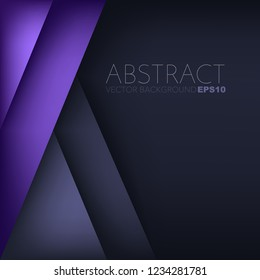 Purple vector background overlap layer geometric with space for design