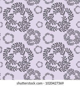 Purple Vine Circular Pattern