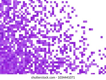 Purple violet vector pixel background