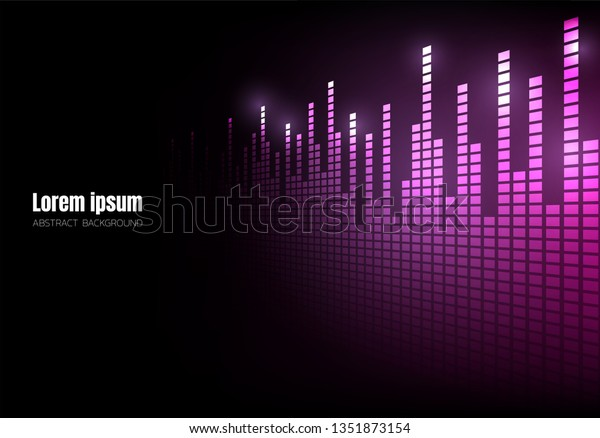 Vector De Stock Libre De Regalías Sobre Purple Wave Sound