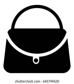 Purse Glyph Vector Icon