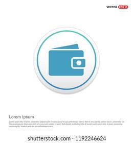 purse icon Hexa White Background icon template - Free vector icon