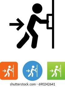 Push Door Icon  sc 1 st  Shutterstock & Push Door Images Stock Photos u0026 Vectors   Shutterstock