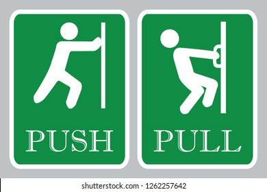 Push door icon & Pull door icon