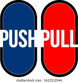 Push, pull the door card written. Can be glued to the door in work places and stores.