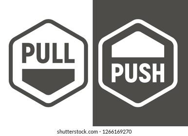 Push pull icon. Vector illustration.