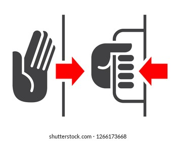 Push pull output input sign. Vector illustration.