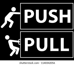 push and pull, vector sing