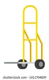 pushcart icon cartoon vector illustration
