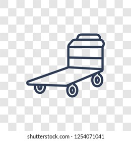 Pushcart icon. Trendy linear Pushcart logo concept on transparent background from Industry collection