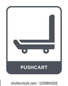 pushcart icon vector on white background, pushcart trendy filled icons from Industry collection