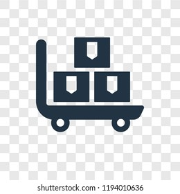 Pushcart vector icon isolated on transparent background, Pushcart transparency logo concept