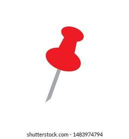 Pushpin icon. flat illustration of Pushpin. vector icon. Pushpin sign symbol