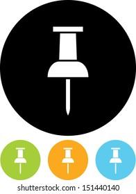 Pushpin vector icon