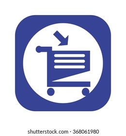 put in shopping cart icon, vector illustration. Flat design style