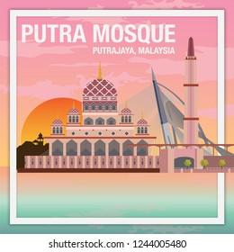 Putra Mosque Sunset Putrajaya