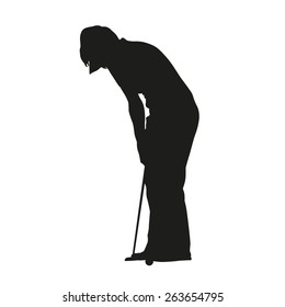 Golf Silhouette Woman Images Stock Photos Vectors Shutterstock