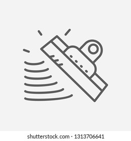 Putty knife icon line symbol. Isolated vector illustration of  icon sign concept for your web site mobile app logo UI design.