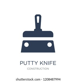 Putty knife icon. Trendy flat vector Putty knife icon on white background from Construction collection, vector illustration can be use for web and mobile, eps10