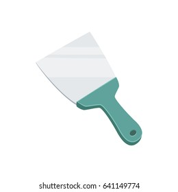 Putty knife. Spatula repair tool. Spackling or paint instruments. Support service vector illustration isolated on white.