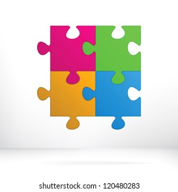 Puzzle abstract illustration concept.  + EPS8 vector file