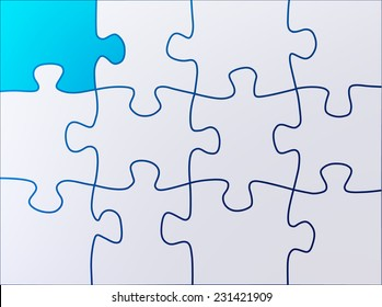 Puzzle abstract shapes background