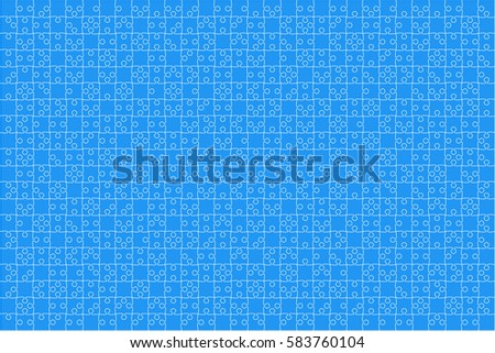 Puzzle Background Banner Blank Vector Jigsaw Stock Vector (Royalty