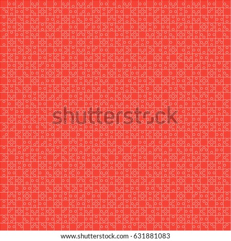 Puzzle Background Banner Blank Vector Jigsaw Stock Vector