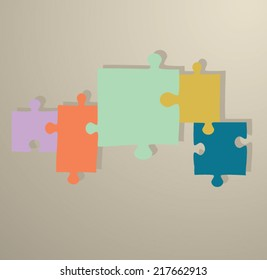 puzzle background and icon for web and info graphics