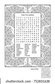 Word Search Puzzle Images, Stock Photos & Vectors | Shutterstock