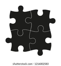 puzzle creative symbol. logo of puzzle