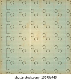 puzzle design over pattern background vector illustration