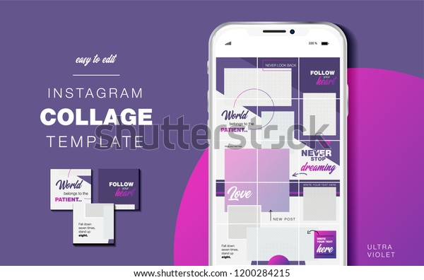 Puzzle Endless Design Template Instagram Account Stock Vector