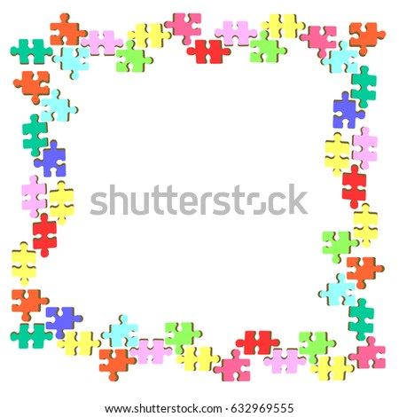 Puzzle Frame Design Stock Vector (Royalty Free) 632969555 - Shutterstock