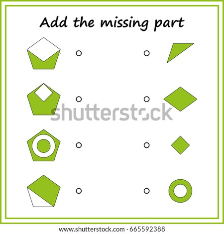 Puzzle Game Visual Educational Game Children Stock Vector Royalty