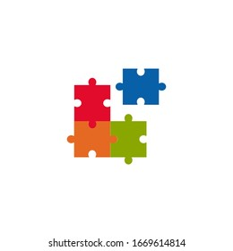 Puzzle graphic design template vector isolated