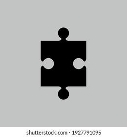 Puzzle icon. Business strategy symbol. Logo design element
