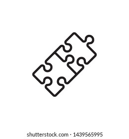 puzzle icon design template. Trendy style, vector eps 10
