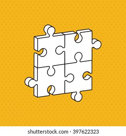 Puzzle icon design, Vector illustration