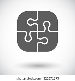 Puzzle icon. Flat vector related icon for web and mobile applications. It can be used as - logo, pictogram, icon, infographic element. Vector Illustration.