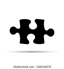 Puzzle icon on a white background