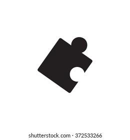 Puzzle icon. Simple illustration.