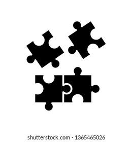 puzzle icon in trendy flat design