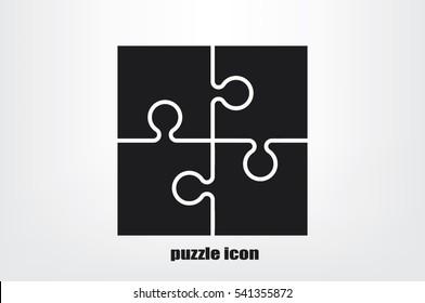 puzzle icon vector.