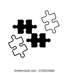 puzzle icon vector design template